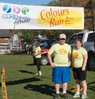 Trained for and completed the Colours 5k run in Bancroft.