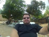 Relaxing on the beach in Cuba