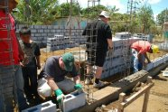 At the school build in Jardines de Apoyo Nicaragua