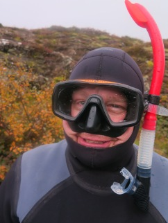 Ready to snorkel in 3°C water